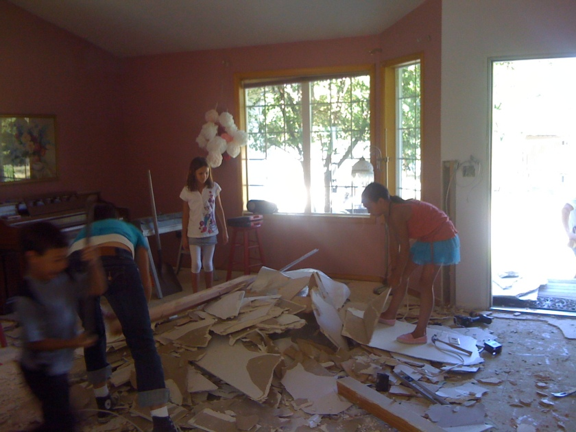 ...things were pretty messy around the house foe months...
